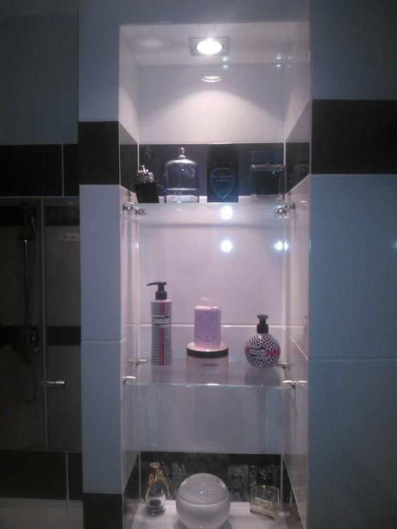 szyby katowice, półka, łazienka