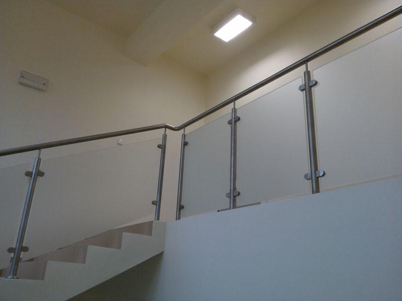 szklarz katowice, poręcz schodów